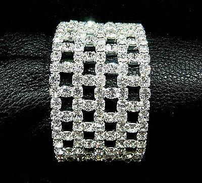 FidgetFidget New Lot Rows Hollow Fancy Stretchy More Styles Crystal Rhinestone Bracelets 12 Pcs #16