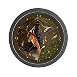 CafePress – Koi Mermaid Wall Clock – Unique Decorative 10″ Wall Clock For Sale