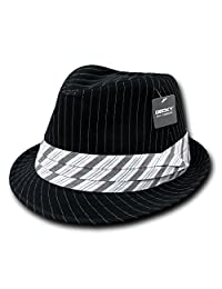 Decky Pinstripe Fedora Hat