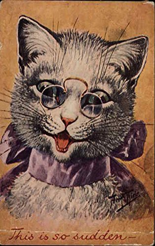 cat wearing spectacles Cats Original Vintage - Spectacles Cat