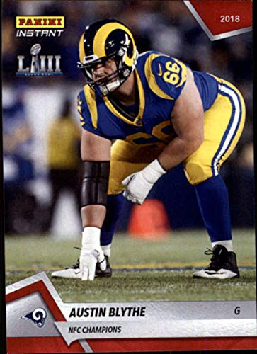 2018 Panini Instant NFL Football #394 Austin Blythe Los Angeles Rams NFC Champions Print Run 89