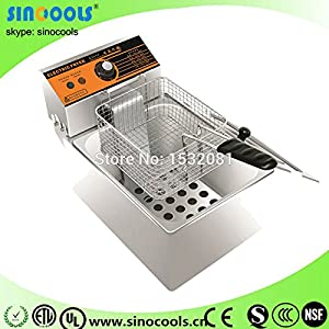 Hot sale Stainless steel desktop electric fryers/potato chips fryer with high efficiency