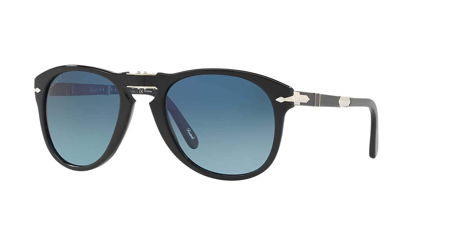 e6faace4776 Amazon.com  Persol PO 0714SM - 95 S3 Black   Blue 52mm Steve McQueen  Limited Edition Sunglasses  Clothing