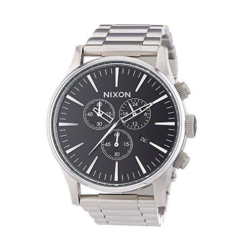 Nixon A386-000 Mens The Sentry Chrono Black Watch