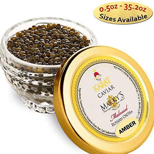 - Marky's Russian Osetra Karat Amber Caviar – 1.75 oz Premium Osetra Sturgeon Malossol Black Roe – GUARANTEED OVERNIGHT