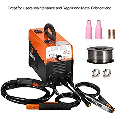 MIG Welder Gas/No Gas DC 220V 125 AMPS MIG/MMA/LIFT TIG 3 in 1 Flux Core Wire Automatic Feed Inverter Welding Machine MMA MIG MAG IGBT Inverter Welder