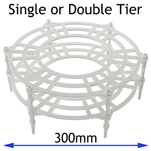 Spares2go 300mm Single + Double Tier Plate Stand Rack For Whirlpool Microwave (300 Mm Single)