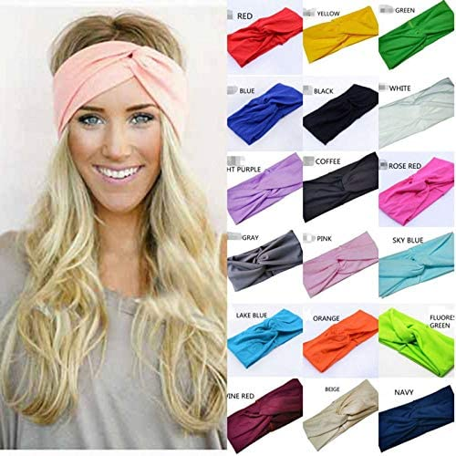 Wrap Women Turban Hair Band Twisted Head Headband Cotton Twist Knot Knotted