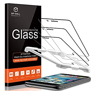 MP-MALL [3-Pack] Screen Protector For iPhone 6 plus/iPhone 6s plus, Tempered Glass [Alignment Frame Easy Installation] [Scratch-Resistant], (Not Fits for iPhone 6 / iPhone 6s)