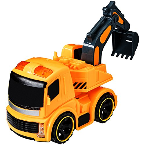 Dragon Too Construction Toys Excavator Truck with Lights and Sounds