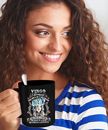 Virgo Mug – The Best Women Are Born As Virgo – Perfect Gift For Virgo Woman – Favorite 11 oz Black Print Ceramic Coffee Mugs.
