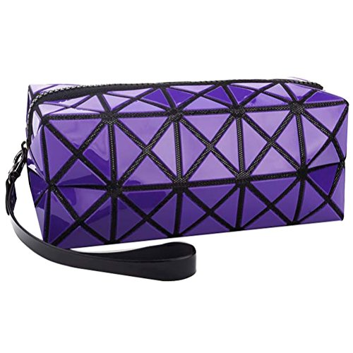 Donalworld Women Makeup Bag 3D laser Portable Cosmetic Organizer Bag L Pt4