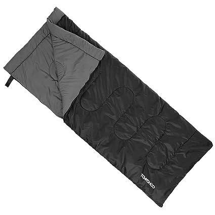 TOMSHOO Saco de Dormir Térmico de Adulto Multifunción Sleeping Bag de Forma Envolvente 200X80CM