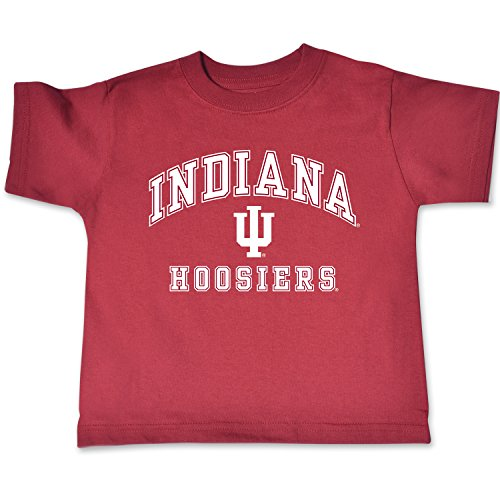 NCAA Indiana Hoosiers Toddler Short Sleeve Tee, 5/6 Toddler, Cardinal