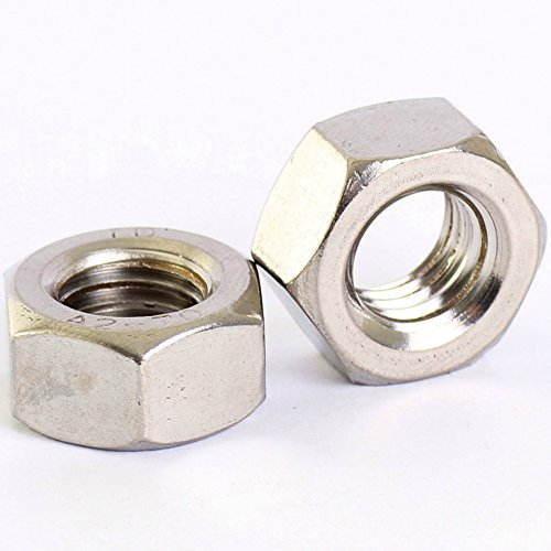 Bolt Base 10mm A2 Stainless Steel Fine Pitch Hexagon Full Nuts Hex Nut DIN 934 M10 x 1.0mm - 10