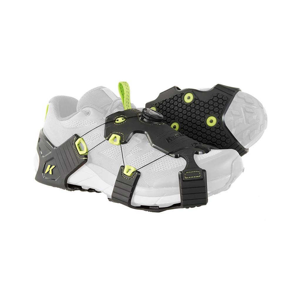 Korkers Unisex Black/Green Ice Runner Ice Cleats, S/M by Korkers