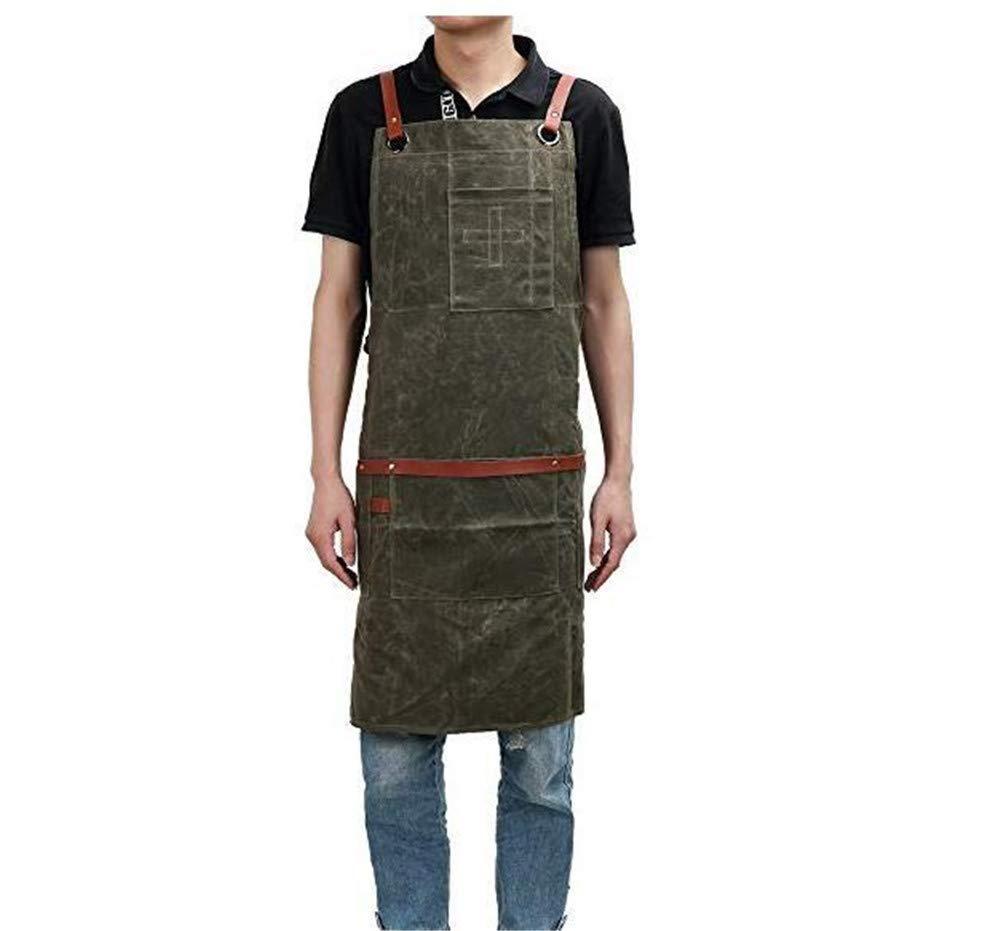 n ° 1 en línea YLOVOW Delantal de Babero Babero Babero Ajustable Resistente Lienzo Impermeable,Delantal de Trabajo para hombres y mujeres,Resistente Encerado para cocinar Delantales de Cocina para  producto de calidad