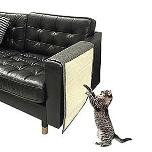 AUOKER Almohadilla para rascar gatos para sofá, alfombrilla de sisal natural para evitar arañazos, para mascotas, ...