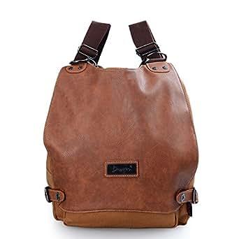 21d440c1078e Amazon.com  DGY Women s Canvas Leather Fashion Travel Backpack ...