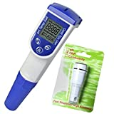 6 in 1 Ph Mv Temperature Conductivity TDS Salt Combo Salinity Tester with ORP Electrode