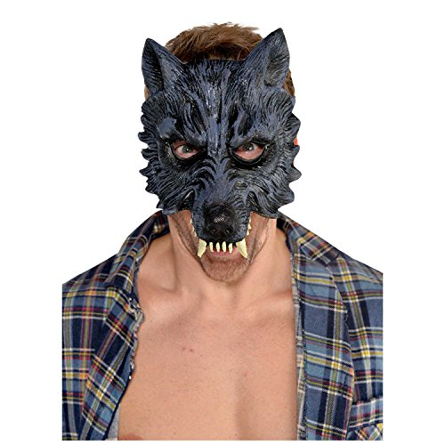 AMSCAN Werewolf Half Mask Halloween Costume Accessories, One -