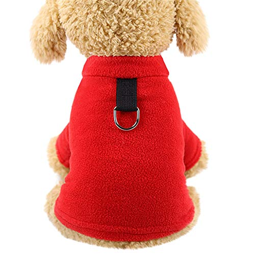 GOTOCO. Winter Warm Pet Dog/Cat Pullover Clothes – Plush Pet Shirt Costumes for Puppies & Kittens, Simple Solid Color…