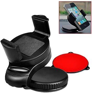 OcioDual Soporte de Coche Giratorio Rotatorio Ventosa para Smartphone PDA GPS MP4 Negro: Amazon.es: Electrónica
