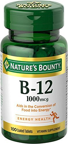 Nature's Bounty Vitamin B-12, 1000 mcg, 100 Coated Tablets (Pack of 20)