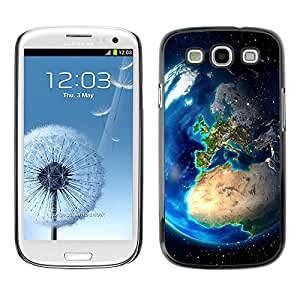 Paccase / SLIM PC / Aliminium Casa Carcasa Funda Case Cover para - Popular Earth Europe View Continents Planet Space - Samsung Galaxy S3 I9300