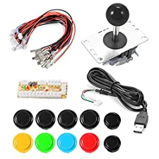 XCSOURCE Zero Delay Arcade Game USB Encoder PC Button Joystick 2/4/8 Way Adjustable DIY Kit for Mame Jamma Machine Gaming AC700