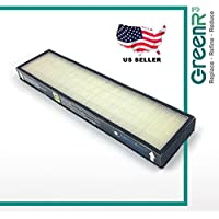 GreenR3 1-PACK Air Purifier True HEPA Air Filter for GermGuardian Filter C fits AC5000 AC 5000 FLT-5000 FLT-5111 Black And Decker BXAP250 Lowes IAP-GG-125 Idylis PureGuardian AP2800 Series PN and more