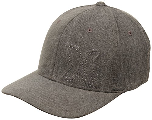 Hurley Womens Del Mar Embroidered Flex Fit Ball Cap Gray S/M (Embroidered Hurley Hat)