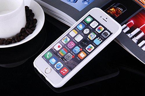 König-Shop Handy Hülle Mandala für Apple iPhone 8 Plus Design Case Schutzhülle Motiv Ägyptische Zeichen Cover Silikon Tasche Bumper Weiß