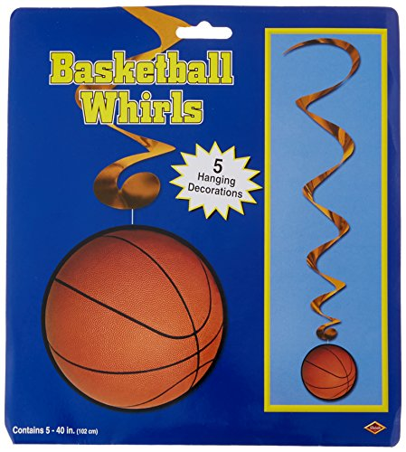 Basketball Whirls   (5/Pkg) -