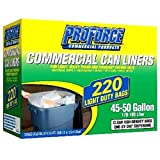 Proforce Commercial 45-50 Gallon Trash Bags, 220 Count (Packaging May Vary)