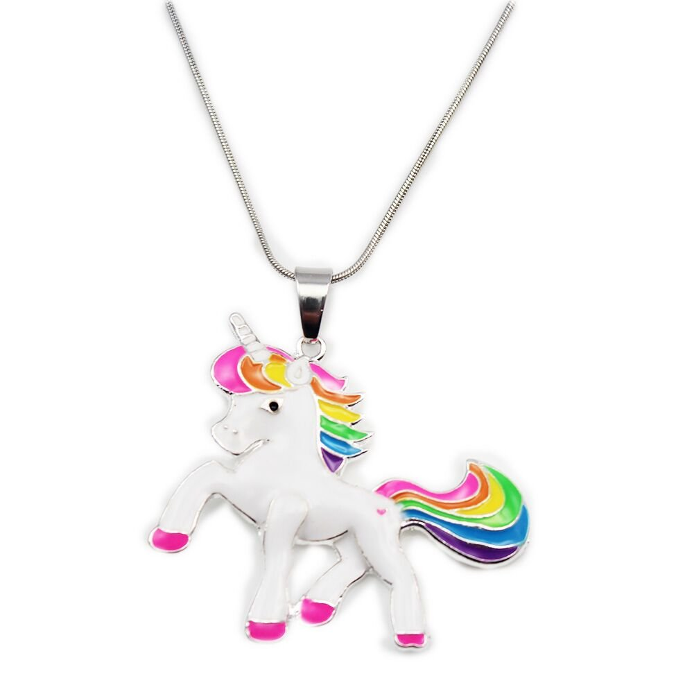 Artvine 2inch1.8inch Pandent Unicorn Birthday Gifts Necklace Baby Girl Chunky Necklace (Stytle 2)