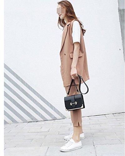 Gommage Paquet White BAILIANG Diagonale Cuir épaule Mesdames Fashion WYA4vw46B