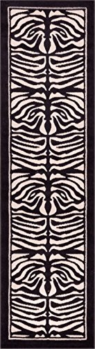 Well Woven Dulcet Zebra Ivory Modern Area Rug 2' X 7'3