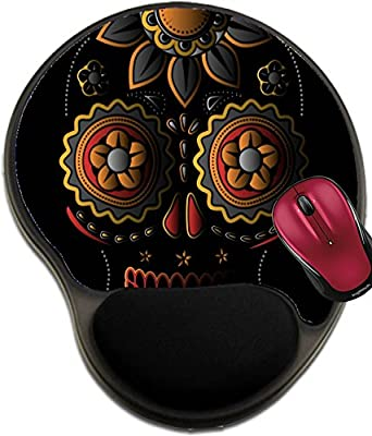 Liili Mousepad wrist protected Mouse Pads/Mat with wrist support design Day of the dead sugar skull Photo 21563464