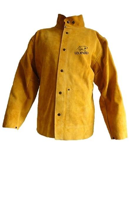 Premium Gold soudeurs/Veste de soudeur en cuir résistant, coutures en Kevlar Taille XL