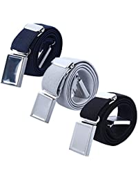 Boy Kids Magnetic Buckle Belt - Adjustable Elastic Children's Belts for Girls, 3 Pieces