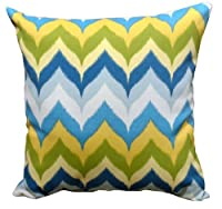 """Indoor/Outdoor 16"""" Square Pillow in Glamis Spa by World Pillow"""