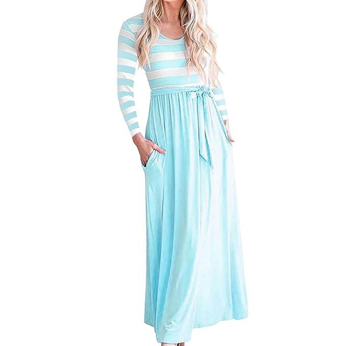 Vestido del Vendaje de Las señoras de la Raya, Beikoard Falda Larga de la Manga