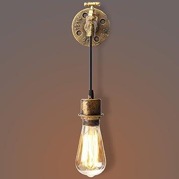 Noilyn- Lámparas de pared rústicas antiguas del granero Luces creativas únicas de la pared del grifo ...