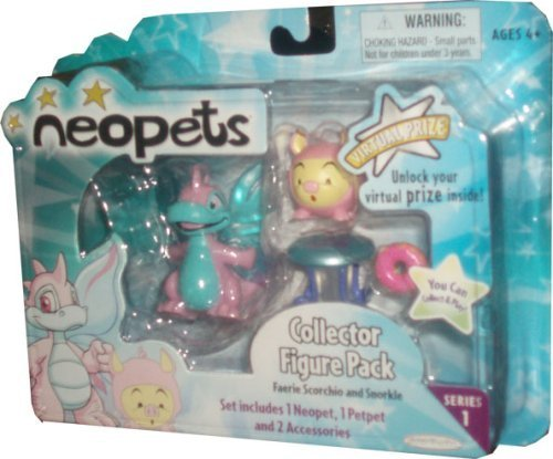 Neopets Collector Figure Pack series 1 : Faerie Scorchio and Snorkle - Neopets Collector Series