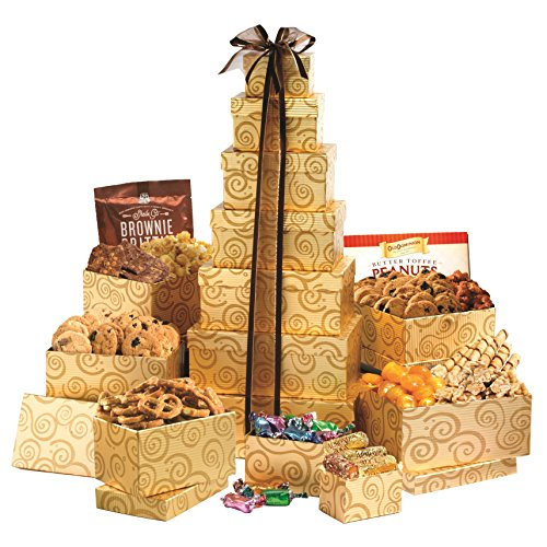 Broadway Basketeers Festive Gift Tower