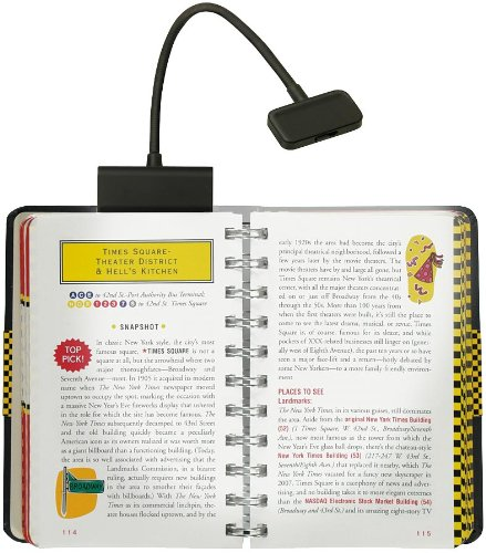 Trio Clip-On Reading Light, Black, for Books, Kindle, and all E-Readers (Booklight)