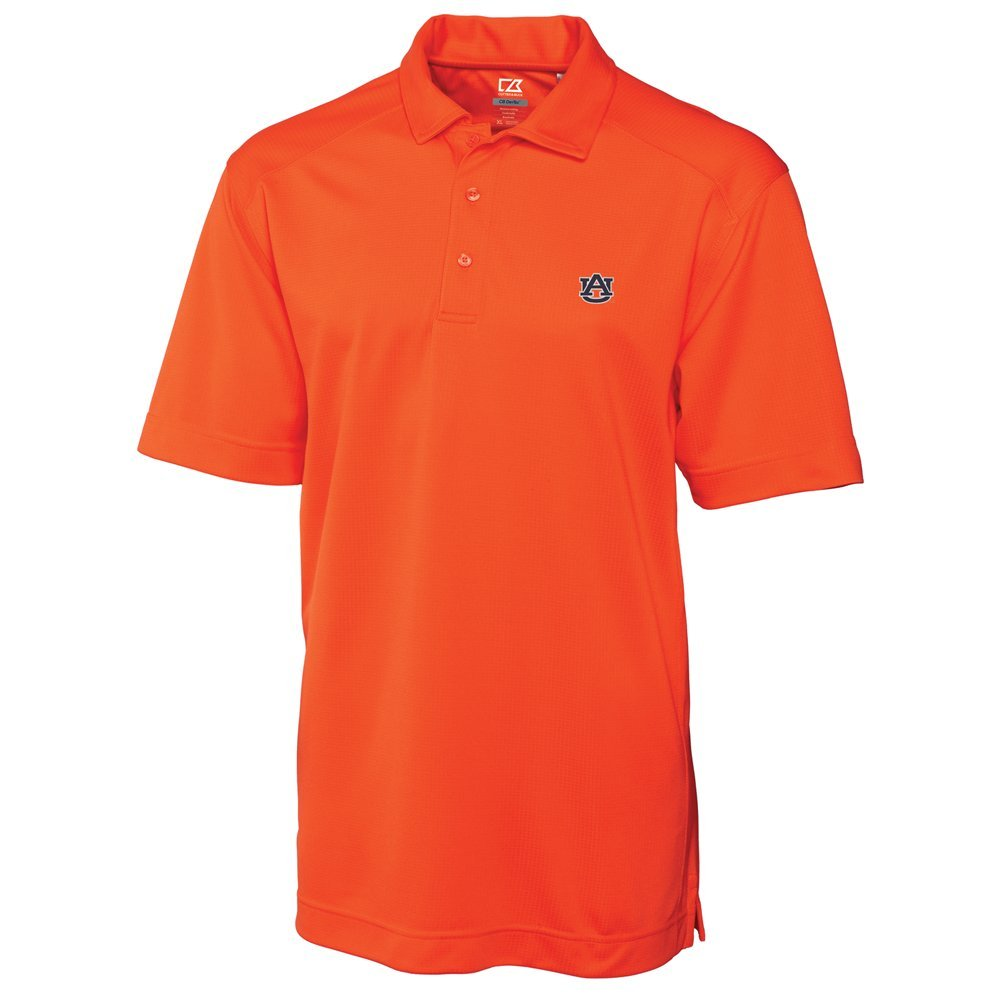 NCAA Men's Auburn Tigers College Orange Drytec Genre Polo Tee X Large