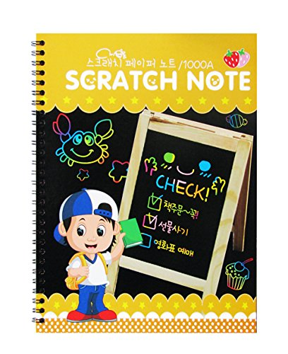 2PCS Rainbow Scratch Art Books, Mega Value 20 Pages Imaginative Scratch Paper for All Ages Makes Art Fun!