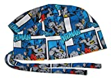 Scrub Hat Batman Comic Book Cotton Fabric Nurse Cap Doctor Do-Rag Skull